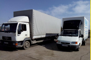 Снимка номер 1 за Транспортни услуги с бордови камиони с падащ борд