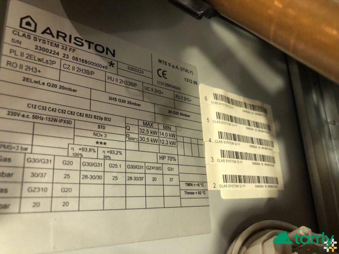 Снимка номер 1 за Газов котел Аристон за части