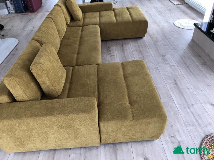 Снимка номер 1 за П-образен чисто нов разтегателен диван 360/ 190/150см