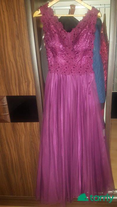 Снимка номер 1 за Виолетова официална рокля