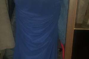Снимка номер 1 за Синя официална рокля