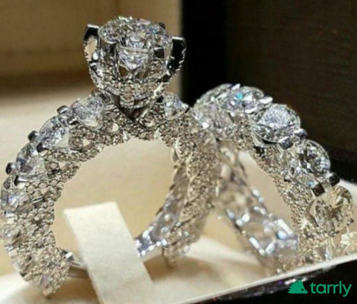Снимка номер 1 за Изящен и уникален двоен пръстен