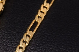 Снимка номер 1 за Модна златна верижка унисекс, нова!