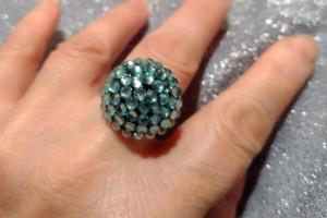 Снимка номер 1 за Искрящ пръстен в синьо