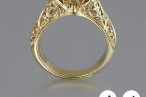Снимка номер 1 за Луксозен златен пръстен