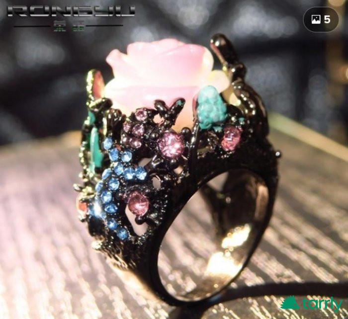 Снимка номер 1 за Марков пръстен черно злато и диаманти