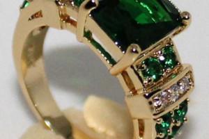 Снимка номер 1 за Златен пръстен с изумруди