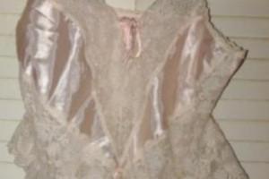 Снимка номер 1 за Дантелено боди в прасковено розово, като ново
