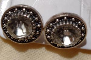 Снимка номер 1 за Обици антично сребро и кристал големи