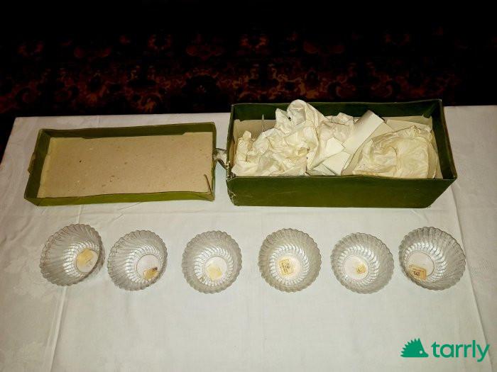 Снимка номер 1 за Шест броя купички за ядки от оловен кристал