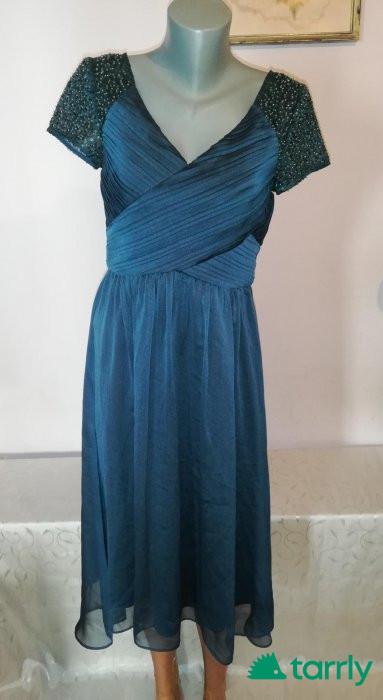 Снимка номер 1 за Елегантна официална рокля в зелено р-р Л, нова