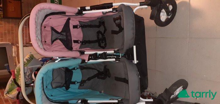 Снимка номер 1 за Комбинирана бебешка количка за близнаци