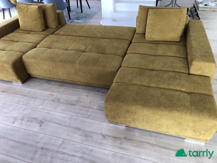 Снимка номер 1 за П-образен чисто нов разтегателен диван с две лежанки 150см.