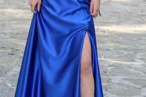 Снимка номер 1 за Бална рокля в цвят кралско синьо