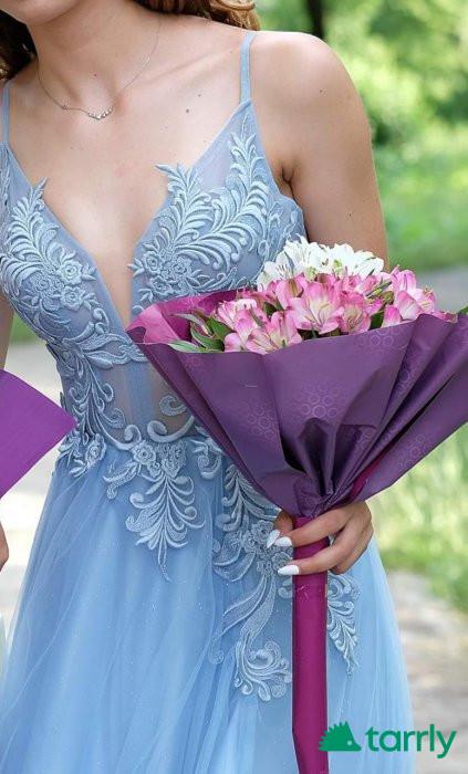 Снимка номер 1 за Бална рокля в светло синьо