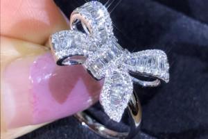 Снимка номер 1 за Луксозен сребърен пръстен със сапфири и диаманти