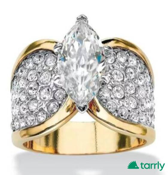Снимка номер 1 за Дамски пръстен злато и диаманти, нов