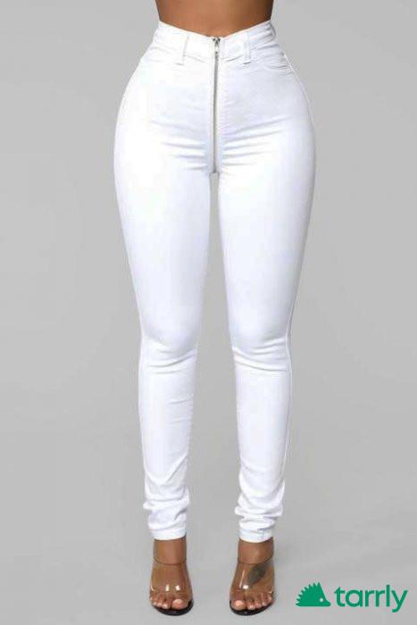 Снимка номер 1 за Бели дънки с висока талия