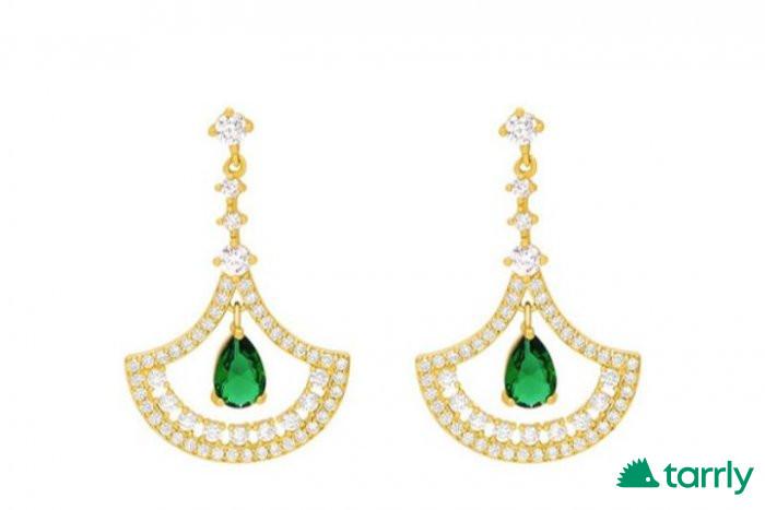 Снимка номер 1 за Обички с Есмералд и диаманти, нови
